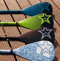 Fibre-glass paddle-by-jobe-MCSUP-watersports-womans-edition-black-blue-lime-green