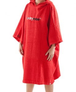 Dry robe towel red